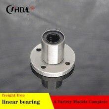 Free shipping 1piece Circular flange Linear Bearings LM8UU LMF10UU LMF12UU LMF16UU LM20UU LMF25UU LMF30UU LMF35UU CNC все цены