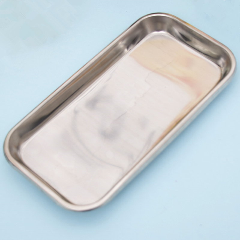 Image 4 - 1PC Stainless Steel Cosmetic Storage Tray Nail Art Equipment Plate Doctor Surgical Dental Tray False Nails Dish Tools-in Nail Art Equipment from Beauty & Health