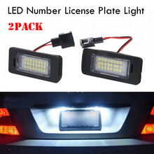 2.8W 14V LED Light License Plate Frame Set Auto Kit 6500-7000K For Audi A1 A4 A5 A6 A7 Audi Q5 LED License Lamp Car Accessories