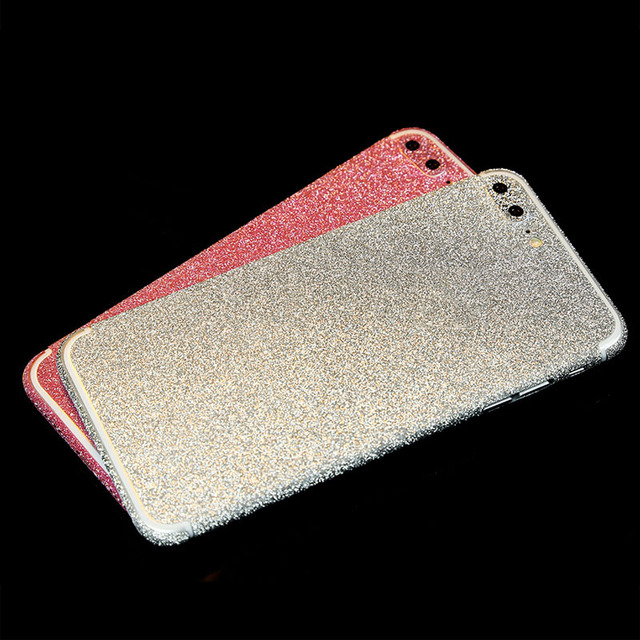 competitive price b122f 2b012 US $1.99 |Glitter Sticker Skin Case For iPhone 7 Plus 360 Full Body Bling  Decal For iPhone 6 6s plus S6 S7 edge Shiny Diamond Powder Cover on ...