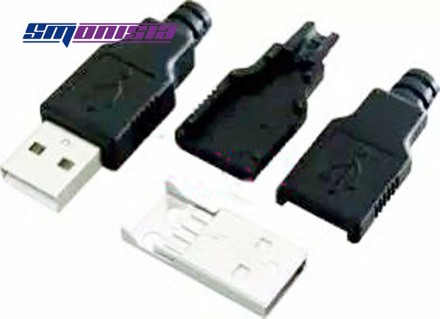 500sets plastic shell black wire type integrated usb male plug rh aliexpress com Wiring a Plug Electrical Plug Wiring Diagram