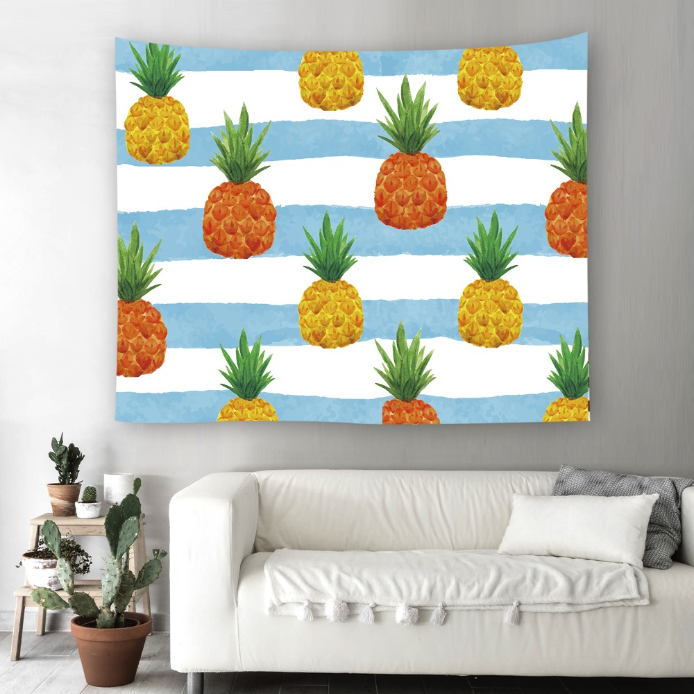Tapestry Pineapple Wall Hanging Colorful Hippie With Romantic Pictures Art Nature Home Decorations For Bedroom Carpet In From