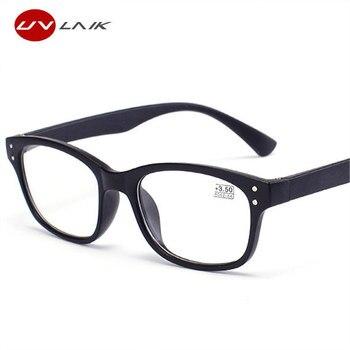 4782410dc0 UVLAIK gafas de lectura de los hombres y las mujeres ultraligero lentes de  resina ancianos TR90 miopía gafas dioptrías 1,0, 1,5, 2,0, 2,5, 3,0, 3,5,  ...