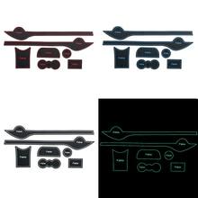Автомобильный нескользящий межкомнатный дверной коврик чашка коврик двери ворота Слот коврик подходит для Skoda Fabia 2012 до 2014 Автомобильный Стайлинг 7 шт. в комплекте аксессуары