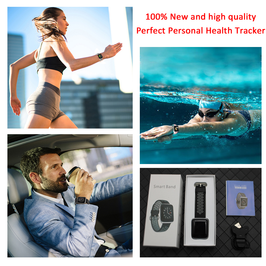 Image 2 - HORUG Smart Band Fitness Bracelet Smart Activity Tracker Bluetooth Smart Wristband Waterproof  Watch Electronic Health Monitor-in Smart Wristbands from Consumer Electronics