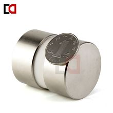 2pcs super powerful Dia 40mm x 20mm neodymium magnet 40x20 disc magnet rear earth NdFeB REAL N52 magnets(China)