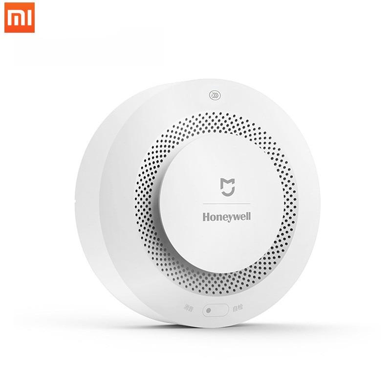 100% новый детектор пожарной сигнализации Xiaomi Mijia Honeywell, дистанционное управление, звуковой визуальный сигнал, работает с приложением Mi Home|Детектор дыма|   | АлиЭкспресс