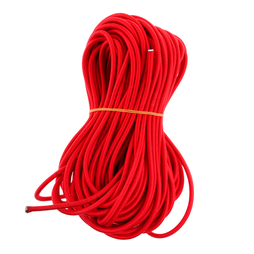 Outdoor Sports All Colours Bright 100m Rolls Of Luggage Elastic Bungee Rope Shock Cord Tie Down Marine Rope