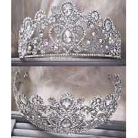 Vintage Peacock Crystal Tiara Bridal Hair Accessories For Wedding Quinceanera Tiaras And Crowns Pageant Rhinestone Crown