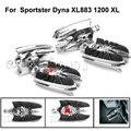 Motocicleta Araña Viuda Delantero Trasero Estriberas Reposapiés Pedales Macho de Montaje Para Harley Dyna Sportster XL883 1200 XL