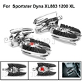 Motorcycle Widow Spider Rear Front FootPegs Foot Rest Pedals Male Mount For Harley Sportster Dyna XL883 1200 XL