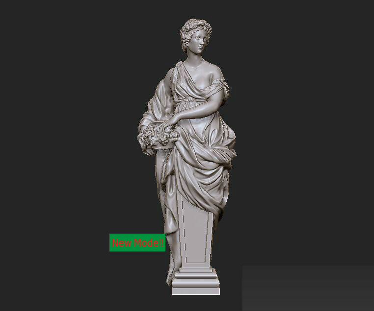New model 3D model for cnc or 3D printers in STL file format In the spring 3d model relief for cnc or 3d printers in stl file format skinny girl 3
