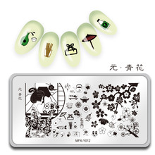 MiFanXi  Nail Art Stamp Template Nail Stamping Japanese Style Oriental Cherry Plate Decorations DIY Image Manicure Plate Stencil