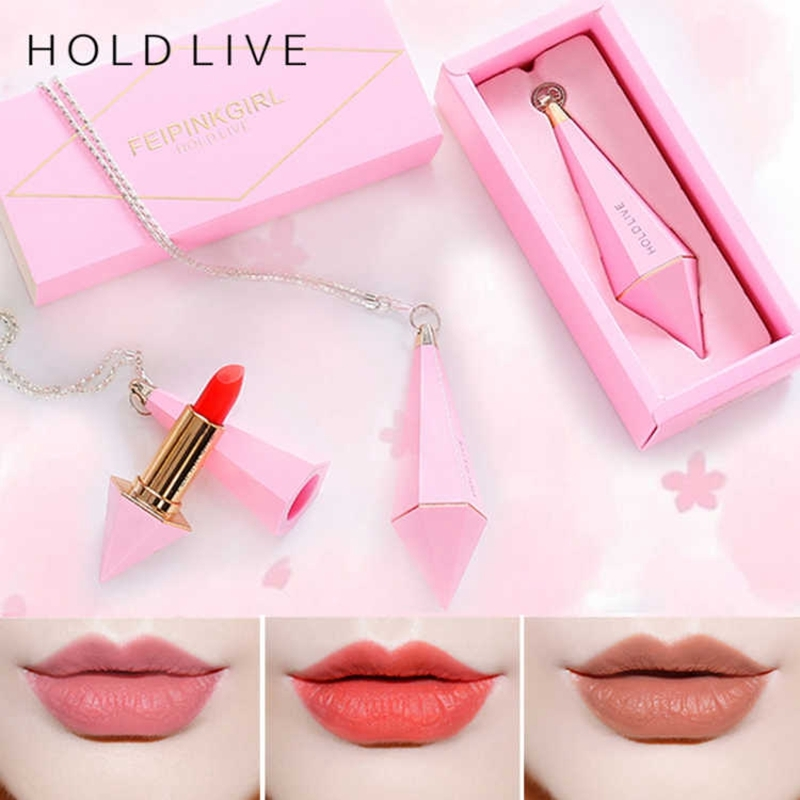 HOLD LIVE Pink Diamond Red Lipstick Korean Makeup Brand Nude Long Lasting Matte Lip Stick For Red Lips 6 Colors Velvet Lipsticks