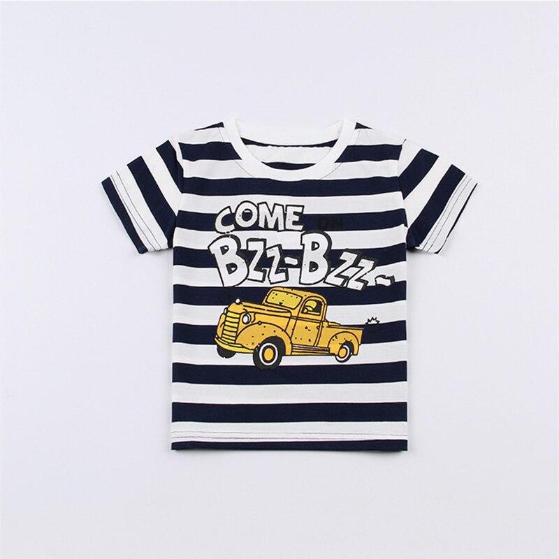 HANQIYAHULI 2018 Summer Boy Cartoon Deer and Car T-shirt 2-6 Year Old - Ubrania dziecięce - Zdjęcie 5