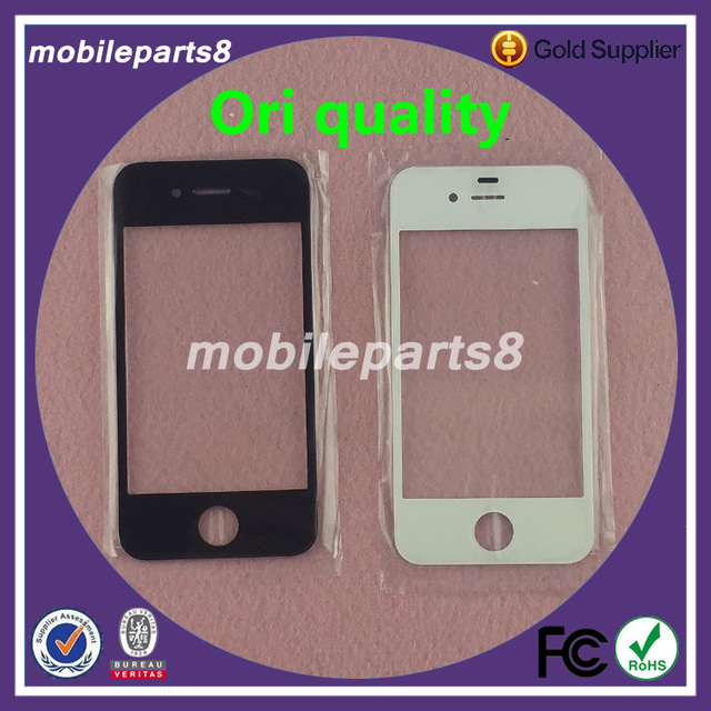 4G 4S Touch Screen Digitizer Glass for iPhone 4&4S Front Screen Outer Glass Replacement Cover Black and White ori quality