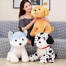 New Style Cute Simulation Dog Husky Short Plush Toys Stuffed Animal Doll Toy Children Birthday Gifts