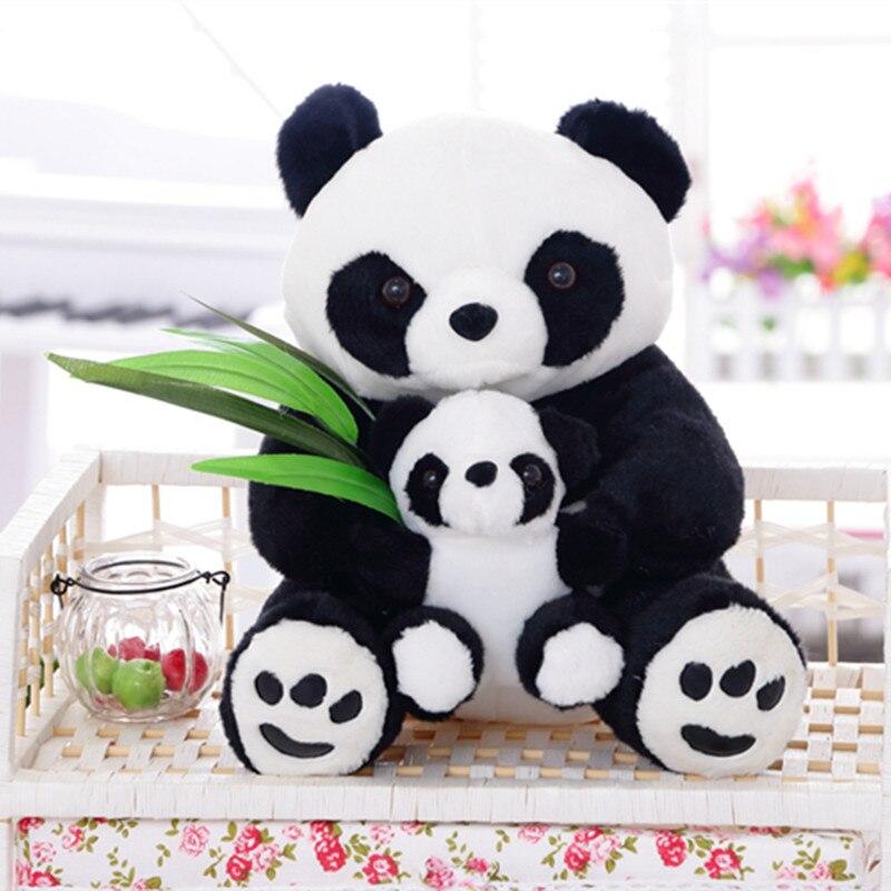 1 шт. 25 см Kawaii заседание мать и ребенок панды плюшевые игрушки мягкие милые подушки малыш игрушки хорошее качество дети подарок на день рожде...