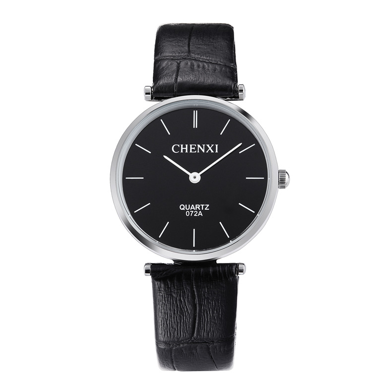 Chenxi Brand Simple Watch Creative Mineral Stylish Quartz Women Men Lover Leather Wristwatches Ultra Thin Dial Casual WristWatch