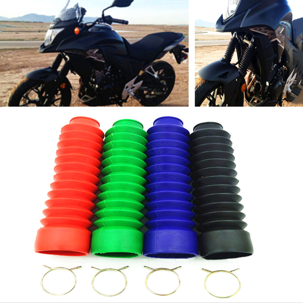 2Pcs Motorcycle Front Fork Cover Gaiters Gators Boot Shock Protector Dust Guard for Off Road Pit Dirt Bike Motocross Bicycle New
