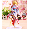 JueJue Anime Fate Stay Night 25cm Kimono Saber Sexy Girl Anime PVC Action Figure Toys Collection