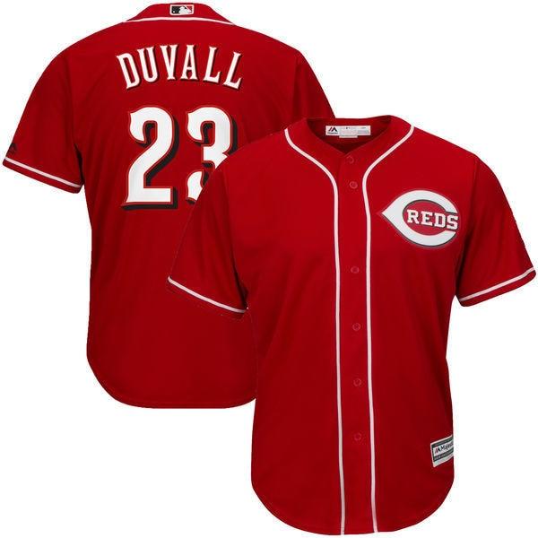 MLB Mens Cincinnati Reds Adam Duvall Baseball Scarlet Official Cool Base Player Jersey
