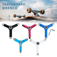 HOT Skateboard Repair Y Shape Tool Portable Multifunctional Accessory with L Type Wrench HV99