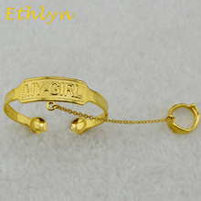Ethlyn Kids baby/ boys/ girls jewelry  bangles Gold Color kids bangle & bracelets Ethiopian  jewelry for children B66