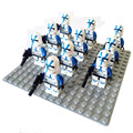 10pcs Star Wars Captain Rex Imperial Royal Guard Death maul stormtrooper blue clone trooper Darth Vader figure Building Block