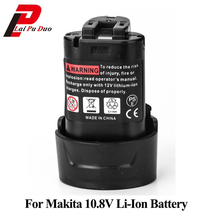 10.8V Li-Ion Replacement Power Tool Battery For MAKITA:BL1013,194550-6,DF030D,194551-4,TD090DWE,DF330D 14 4v 3000mah power tool battery li ion for metabo 6 25482 bsz 14 4 impuls li bsz14 4