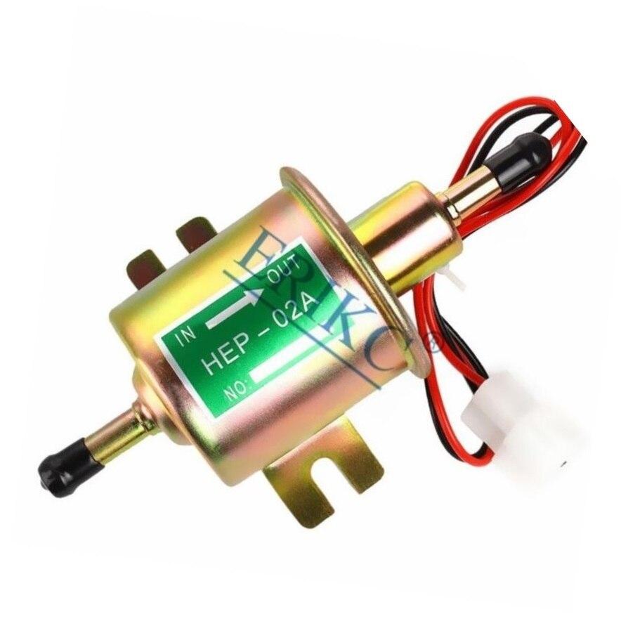 Erikc bomba de combustível elétrica HEP-02A nova universal 12 v inline gasolina diesel baixa pressão hep 02a hep02a