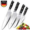 Японские кухонные ножи острые наборы шеф-ножей Германия 1 4116 Высокоуглеродистая сталь Santoku фруктовый скрепляющий нож ручной работы