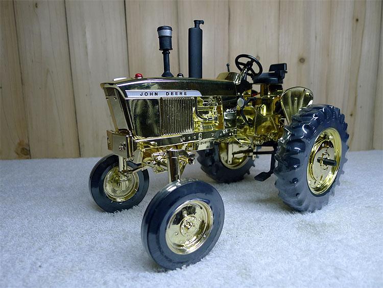 KNL HOBBY J-Deere 2520 Golden Deere tractor model gold plating Collectibles ERTL 1:16