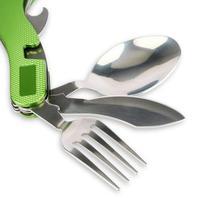 JAKEMY תכליתי כיס חיצוני מתקפל כלי שולחן נירוסטה כפית מזלג סכין סט כלי פיקניק קמפינג פותחן בקבוקים