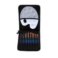 Marka yeni 12 adet Yuvarlak Sivri İpucu Naylon Saç Sanatçı Suluboya Akrilik Yağlıboya Fırça Seti.