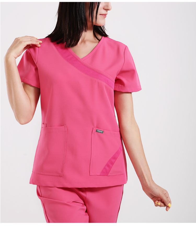 748058db332 Women Flexible Nurse Uniform Outfits Scrub Suit Medical Uniform ...