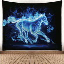 Rectangle Horse Printed Polyester Wall Tapestry Home Room Decorative Carpet Beach Towel Tablecloth Yoga Mat new printed wall hanging tapestry world map tapestry beach towel blanket carpet rectangular tablecloth room decorative tapestry