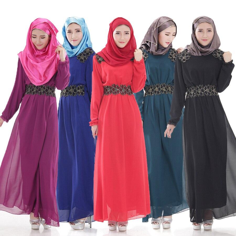 Change 2016 Autumn New Muslim Abaya Long Dress Chiffon Gown In Busana Layla Phasmina Islamic Clothing From Novelty Special Use On Alibaba Group