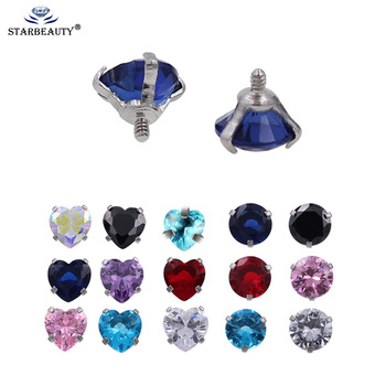 5pcs/Lot 16G 5mm Internally Threaded Belly Lip Eyebrow Tongue Belly Navel Ring Body Jewelry Piercing Parts Body Piercing Ball