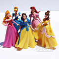 Disney Snow White 5Pcs/Lot Action Figures Belle Cinderella Dolls 14CM PVC Figure Cute Princess Anime Collectible Toys Decoration