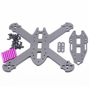Image 5 - HSKRC TWE210 210mm Wheelbase 4mm Arm 3K Carbon Fiber X Type FPV Racing Frame Kit  for RC Drone FPV Racing Kit