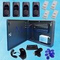 Cuatro Sistema de Panel de Control de Acceso Biométrico de Huellas Dactilares Puerta Inbio 460 con FR1200/ZK4500/Función de La Batería fuente de Alimentación 005B