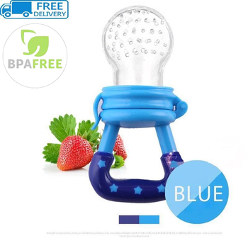 Baby Food Feeder With Pacifier Clip Holder Infant Baby Teether Fruit Feeder Pacifier Infant Food Pacifier Silicone Teething Toys