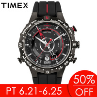 2018 Hot Timex Mens Watches Intelligent Quartz Luminous Tide Temp Compass Silicone 100m Waterproof Outdoor Sport Male Watch