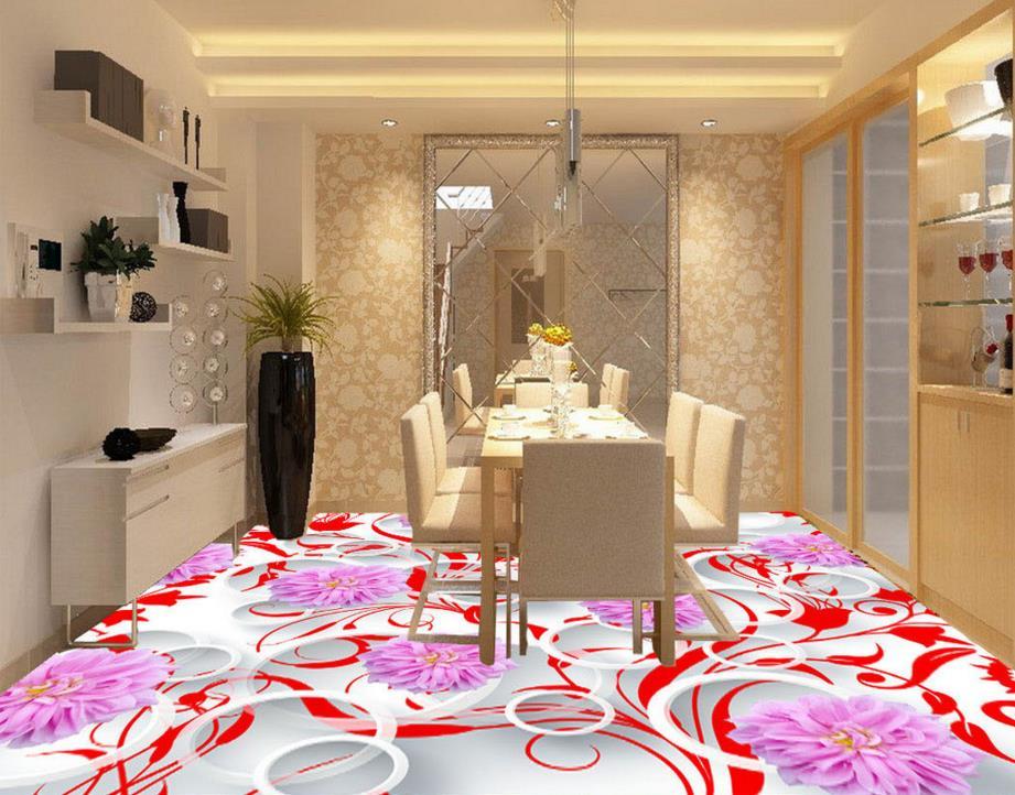 Modern 3D Floor tiles 3D Wallpaper Murals For Living rooms chrysanthemum 3D Flooring Wall papers Home Decor Photo Wallpaper 3D 3d stereoscopic stone water 3d wall murals wallpaper floor 3d wallpaper floor for living room home decoration