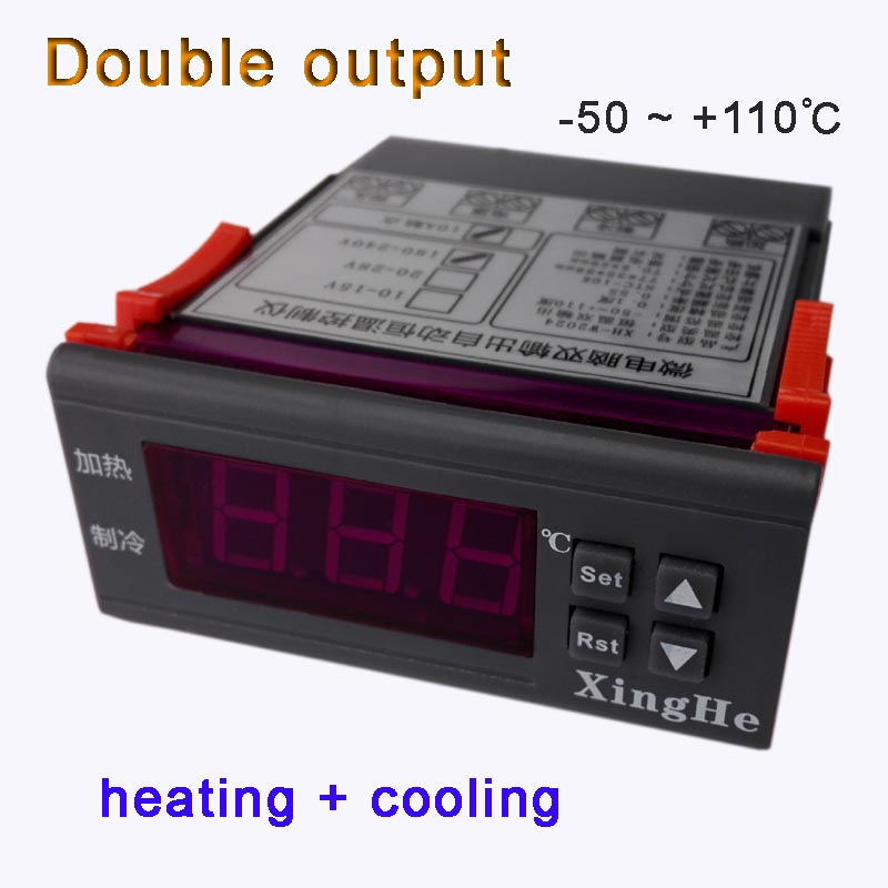 -50`110 Celsius degree temperature controller thermostat output both heating and cooling instrument to keep constant temperature
