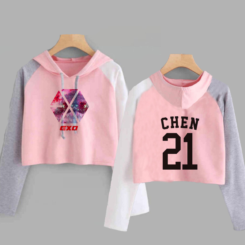 EXO Crop Top Hoodies 2020