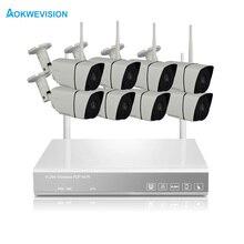 8CH CCTV System Wireless 720P NVR 8PCS 1.0MP IR Outdoor P2P Wifi IP CCTV Security Camera System Surveillance Kit 1TB 2TB HDD