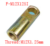 Free shipping 2 pcs I Joint M12x1.25mm Female to Male Thread Pneumatic Cylinder Piston Clevis,F-M12X125I