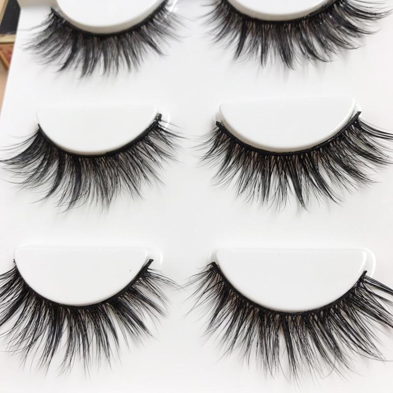 YOKPN Beauty Makeup Eyelashes Sexy 3D False Eyelash Multi Layer Thick Fake Eye Lashes Hand Made Cotton Stems Lashes Extension